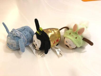 Disney Tsum Tsum 100%全新 1)2016猴年版 高飛 Goofy 2) 2017復活節版 高飛 Goofy 3) 2018 聖誕節版 高飛 Goofy