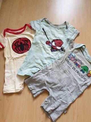 Superheroes Baby Rompers (3 pieces)