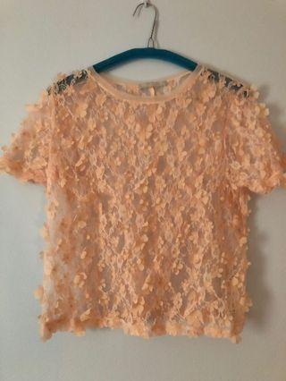 Mesh pink top