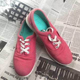 Sepatu crocs tali pink tosca