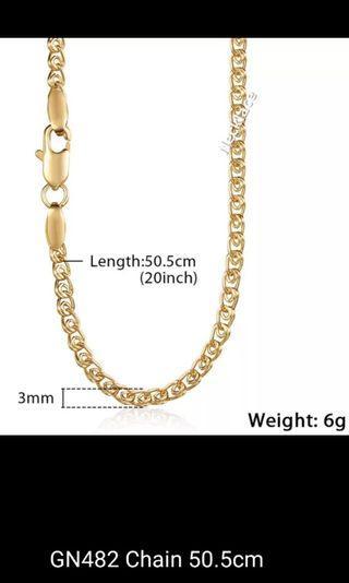 Necklace - A, B, C, D, E, F, G Length 50.5cm