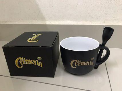 Ceramic Mugs with spoon