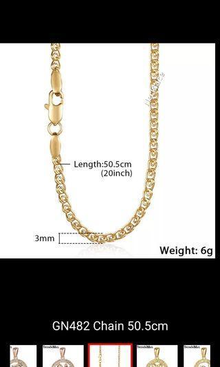 Necklace - A, B, C, D, E, F Length 50.5cm