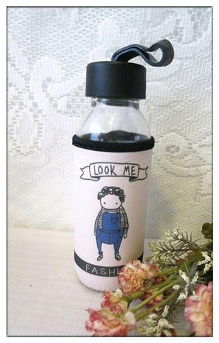 🚚 全新 300ml 玻璃杯 附杯套 隨身杯 玻璃水壺 水瓶 儲物罐 保鮮密封瓶 出清 只售