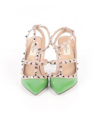VALENTINO green heels size 6.5