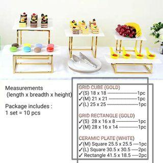 [3 days RENTAL] DESSERT TRAY FOR EVENTS