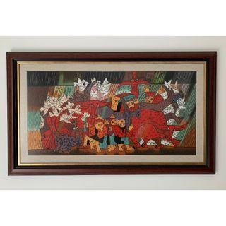 Embroidered Vietnamese Painting
