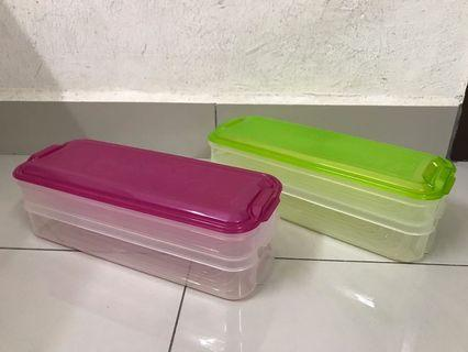 2 layers Plastic containers