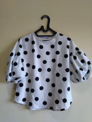 Zara Polkadot Top Size S #mauvivo