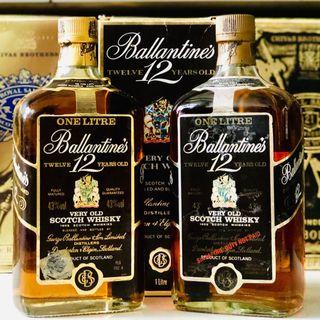 1L Ballantines 12 Scotch Whisky