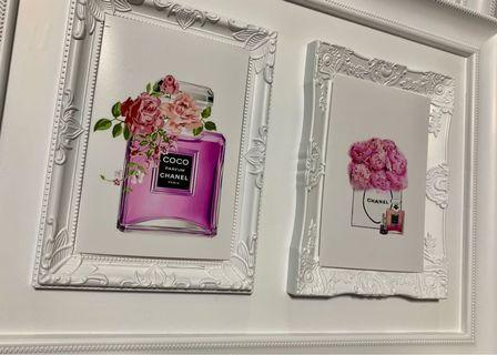 Chanel double photo frames
