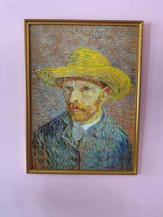 Replica van gogh  print on sihl canvas n frame