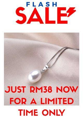 Genuine Pearl Pendant   925 Sterling Silver 100% Freshwater Pearl