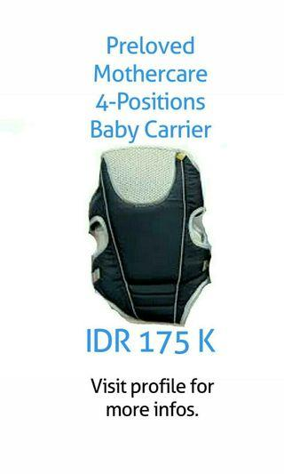 Mothercare 4 Positions Baby Carrier (Original)