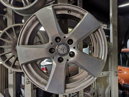 Mers E200 2018 alloy rims ori
