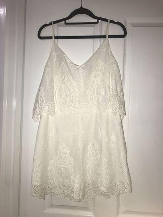 Dotti White Lace Playsuit
