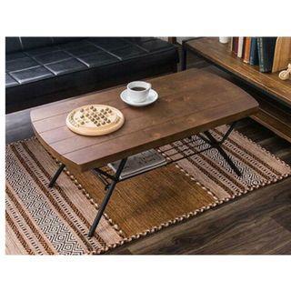 Z~工業復古風可折合茶几桌/客廳桌/和室桌/書桌/餐桌(兩色可選)