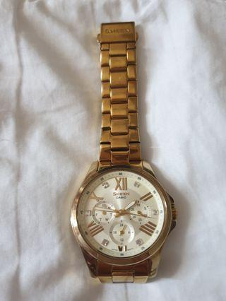 Preloved Casio Sheen Gold Watch