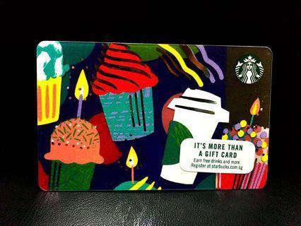 Starbucks Card Singapore Candle Muffin Cake Birthday Coffee Cup Mug