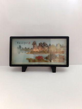 Quote price olden days vintage china scenery souvenir display figure