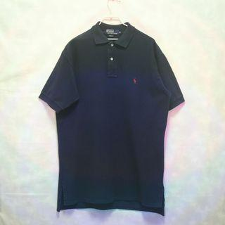 (保留)三件7折🎊 Ralph Lauren polo衫 短袖 深藍 小馬 極稀有 美國製 老品 復古 古著 Vintage