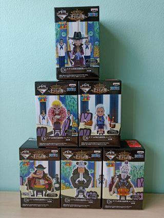 One Piece WCF Party The Seven Warlords of the Sea Ichiban Kuji Prize D Figurines