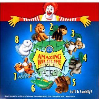 1994年 全新未拆 麥當勞玩具 McDonald's amazing wildlife 絕版玩具 玩偶 猩猩 獅子