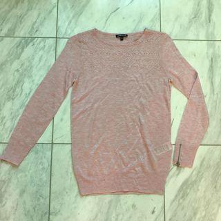Warehouse Blouse Knit Long Sleeve Sweater