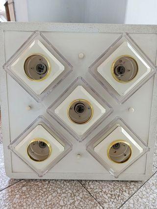 四方形 5段式燈座 含小燈 展示品
