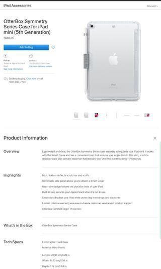 Otterbox symmetry series for iPad mini gen5