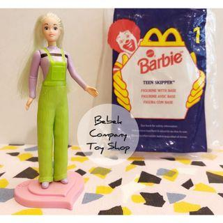 1998 McDonald's Mattel barbie skipper 麥當勞 老玩具 芭比娃娃 芭比 絕版玩具 古董玩具