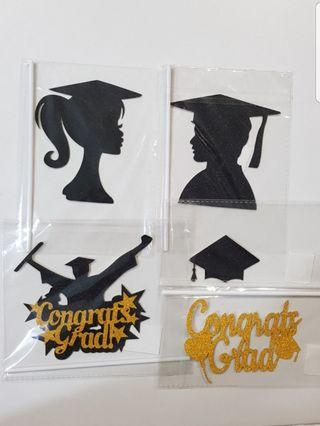Graduation congrats Cake/Cupcake/Muffin Toppers for Party Decoration