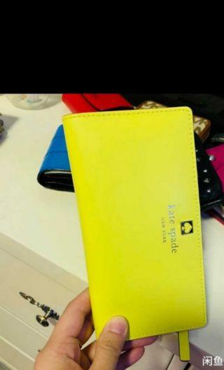 Authentic Kate Spade yellow zip Wallet