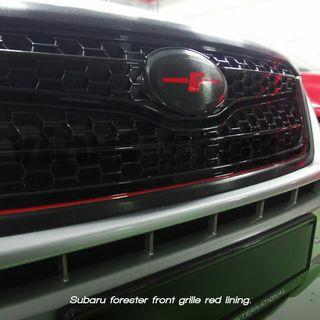 Subaru forester front grille red lining