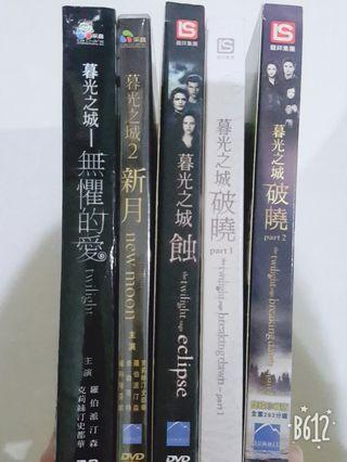 🚚 暮光之城全系列 DVD(除蝕外皆為雙碟版)