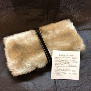 🇯🇵 Kanebo Lunasol 毛毛 化妝袋 手拿袋 Fluffy Clutch / Pouch / Make up bag / Comestic bag