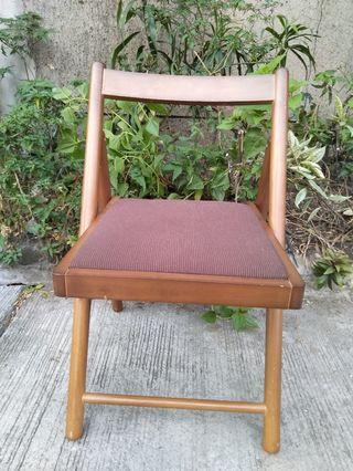 Brown wooden folding chair condo home house office