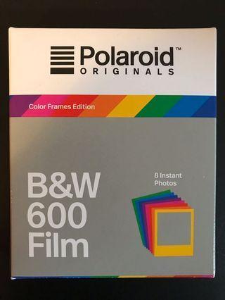 Polaroid Originals B&W 600 Film (Colour Frames Edition)