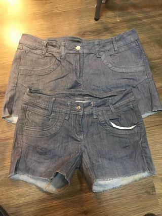 Wholesale ladies/kids denim shorts and jeans