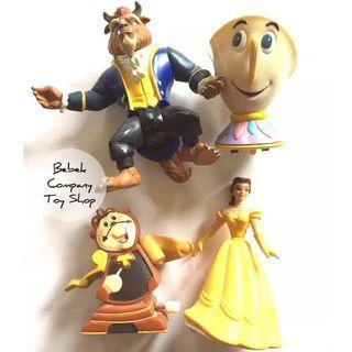 全新未拆 1991年 Burger King Disney Belle 迪士尼 美女與野獸 阿奇 時鐘 貝兒 絕版玩具