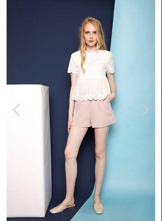 🚚 🌟BNWOT TSW Enrica Basic High Waisted Shorts in Dusty Pink
