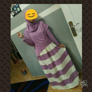 Balimo dress udh satu set outer+pasmina