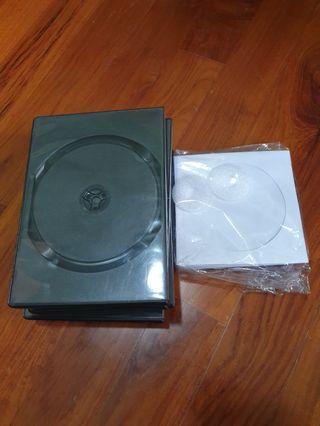 🚚 Plastic black Dvd cd case and paper case