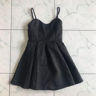 Black Sleeveless Skater Dress