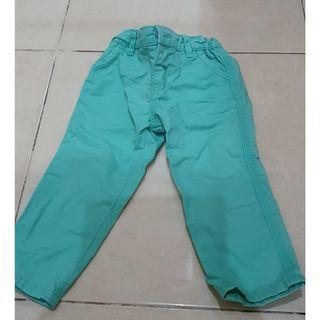 Celana panjang hijau muda bayi laki laki gingersnaps 1thn