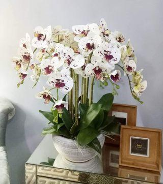 Orchid artificial with ceramic vase