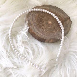 Bando Mutiara Hiasan Aksesoris Rambut Pearl