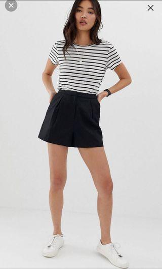 Asos linen black shorts