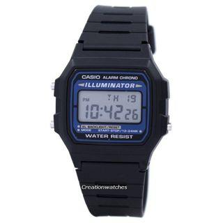 🚚 Casio Digital Quartz Alarm Chrono Illuminator F-105W-1ADF F105W-1ADF Men's Watch