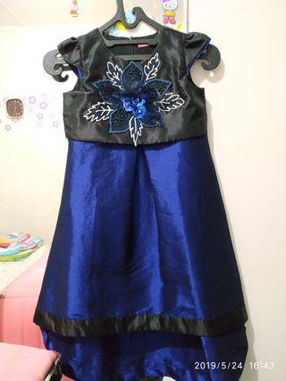 Dress anak Perempuan biru navy